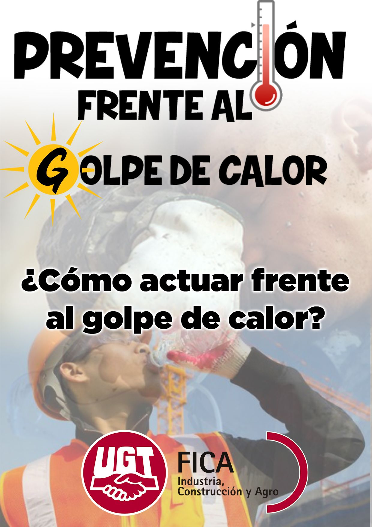cartel golpe de calor